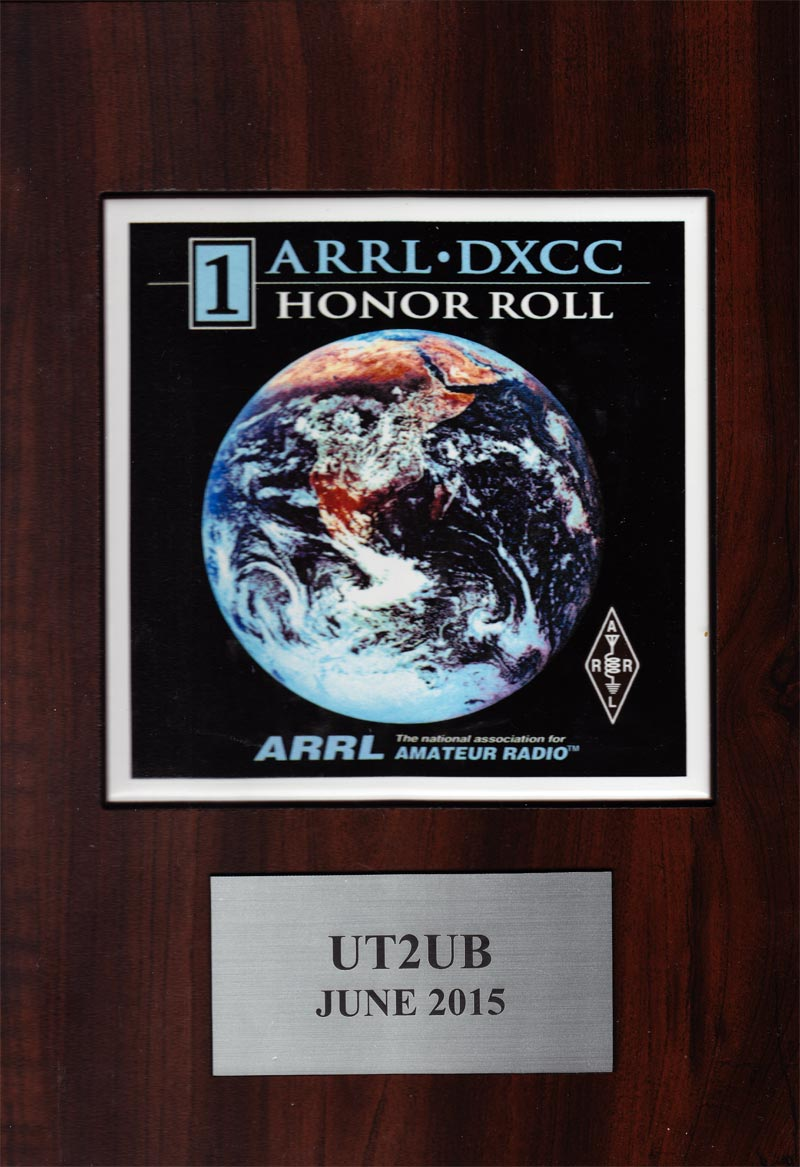 UT2UB - ARRL DXCC HONOR ROLL